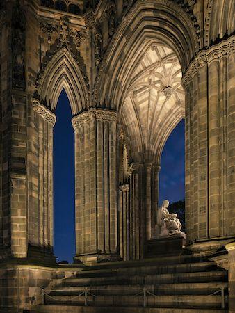 Scott Monument, Edinburgh Lighting Design by KSLD Photo by David Barbour