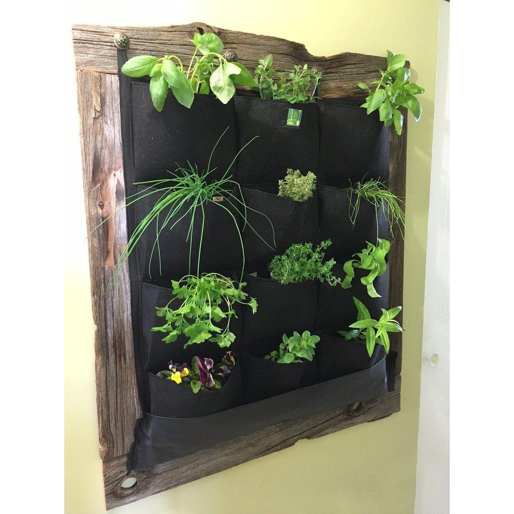 12 Pocket Indoor Waterproof Vertical Living Wall Planter 640 x 480