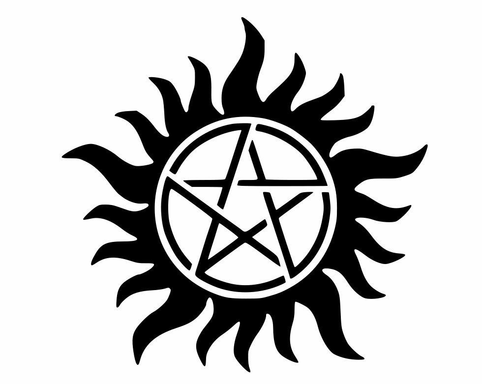 Supernatural Possession Protection Symbol Decal Display On Car