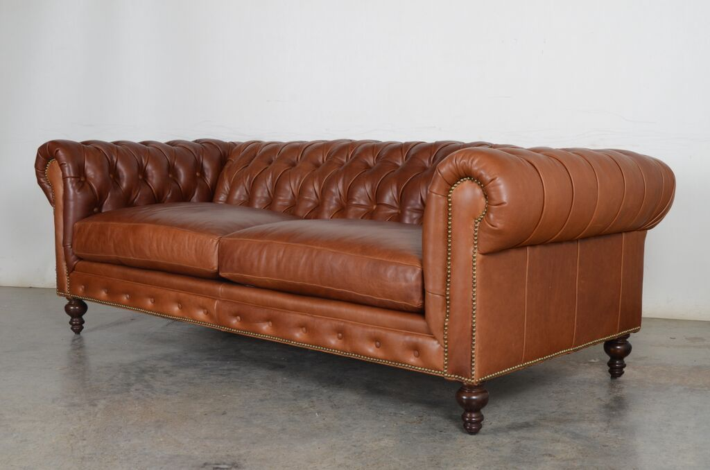 Classic Chesterfield Sofa Moore Giles Pure Saddle Leather