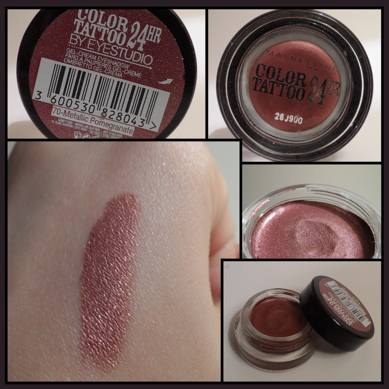 Swatch color tattoo maybelline new york 70 metallic for Color tattoo maybelline