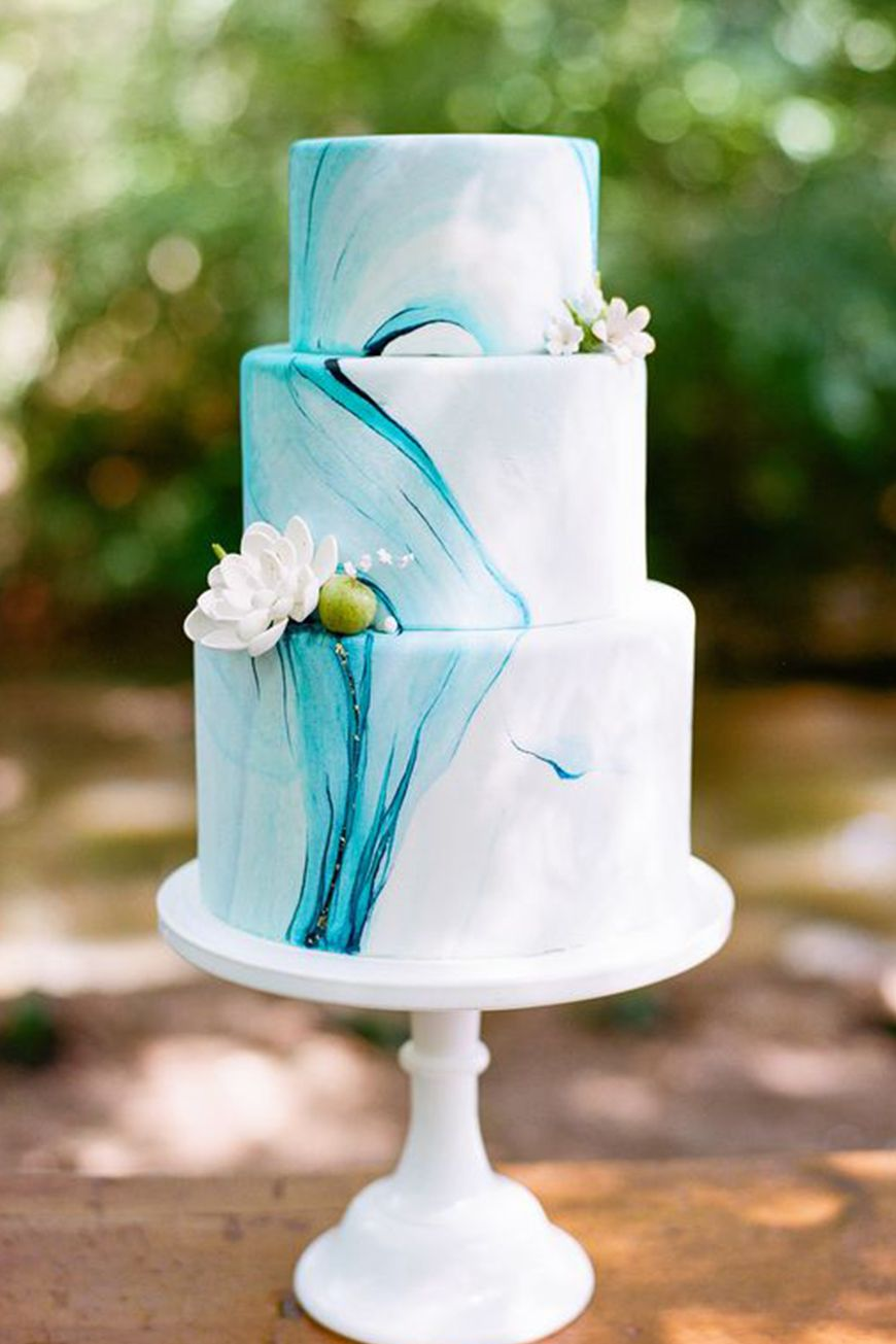 Wedding Ideas By Colour: Marble Wedding Cakes | Chwv In 2020
