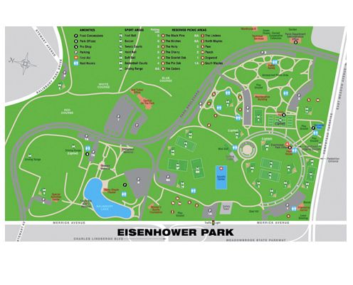 Eisenhower Park Map Eisenhower park | Long Island fun | Map design, Print design, Design
