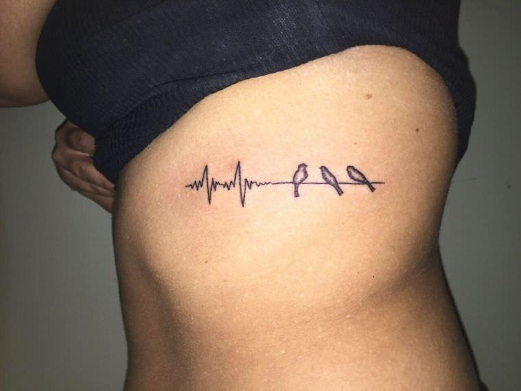 Fotos De Tatuajes De Latido De Corazon Y Pajaros Tatuagem