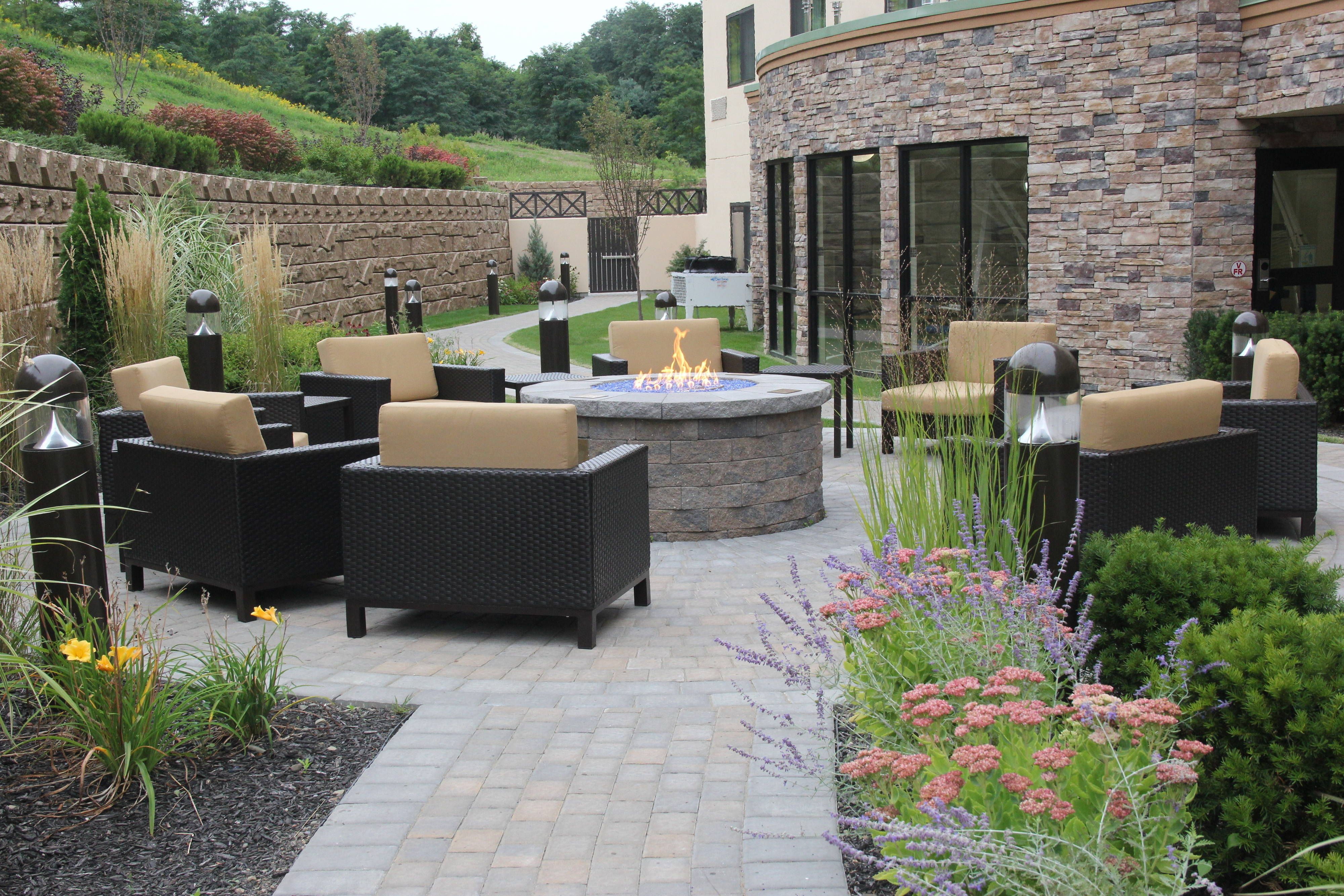 Courtyard Oneonta Cooperstown Area Outdoor Fire Pit Traveling