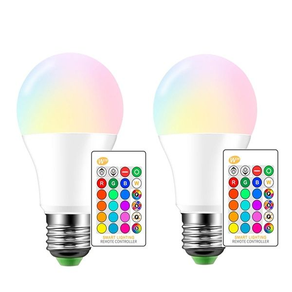 1pcs E27 5w 10w 15w 16 Colors Rgb Daylight White Led Light Flash Bulb Remote Control 4 Modes Color Changing Light Bulb Color Changing Light Bulb Color Changing Lights White Led Lights