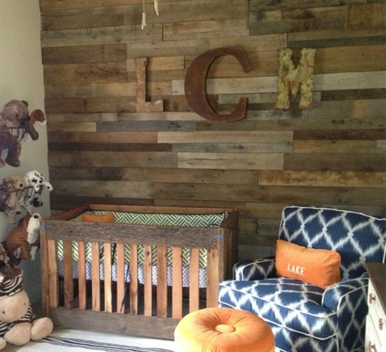 Transitional Nursery With Rustic Wood Wall: Gallery Roundup: Wood Accents