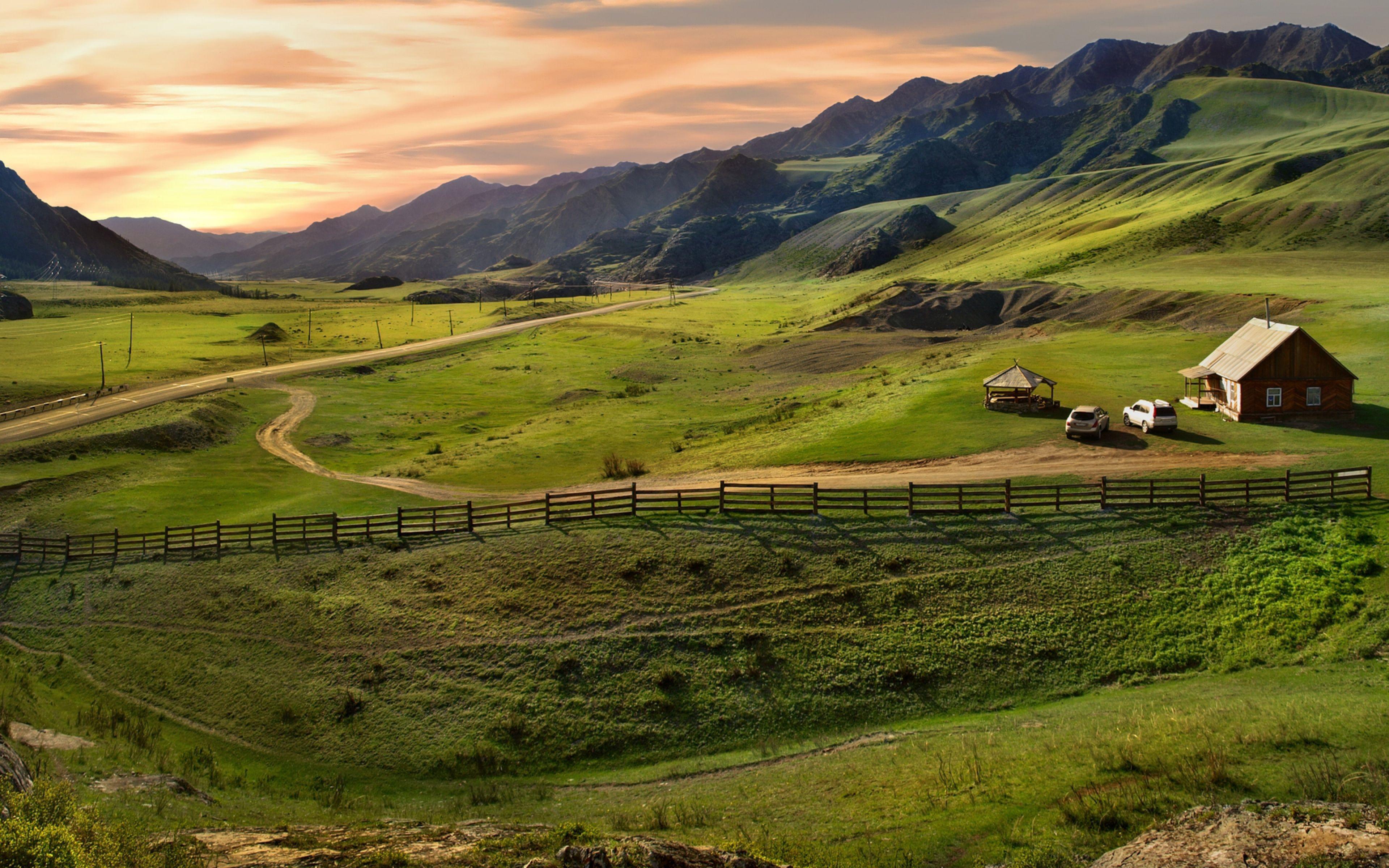 altai_mountains_plain_protection_house_car_46193_3840x2400