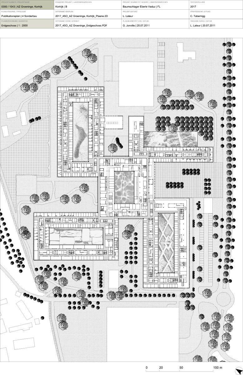 Small hospital floor plans - Hospital Az Groeninge Baumschlager Eberle Osar Architects