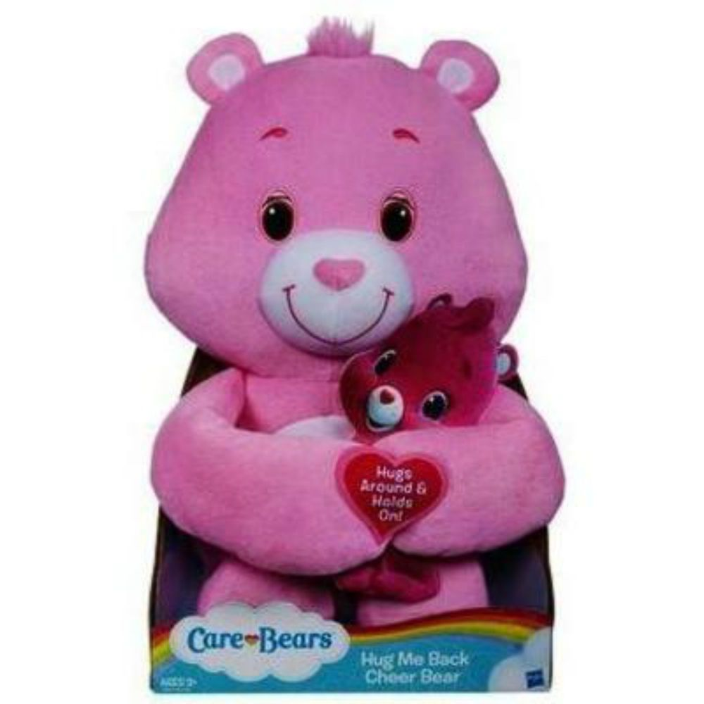 "Hasbro Adorable Care Bears Hug Me Back Pink Soft Plush 16"" Cheer Bear - 3+ - F/S  - $37.99 - June 19, 2014 - #FreeShipping"