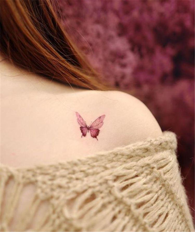 Butterfly Tattoo Ideas You Will Love Butterfly Tattoo Small Butterfly Tattoo Shoulder Butterfly Tattoo B In 2020 Pink Tattoo Pink Tattoo Ink White Butterfly Tattoo