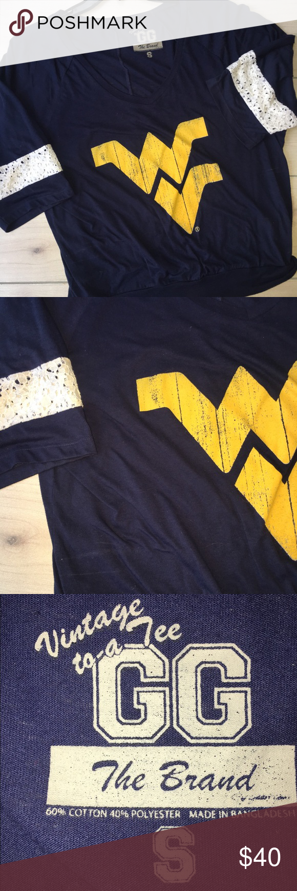 Women's Sz XL WVU Mountaineers Top ~ EUC If you are a mountaineer fan you need this!!