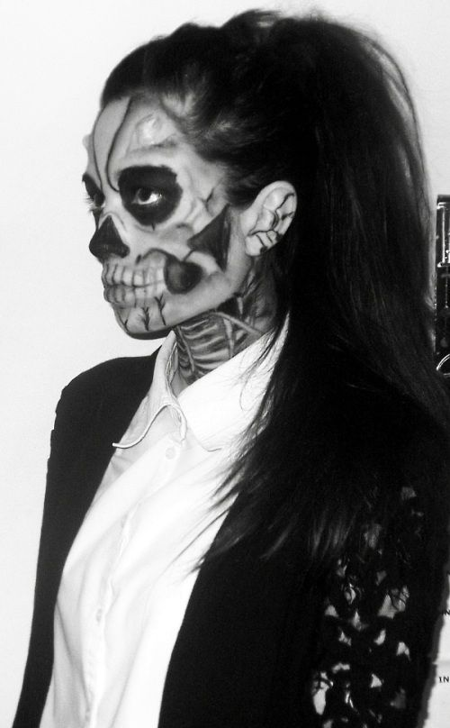 claire huskie: Lady Gaga, Born This Way: Skeleton Make-up | Sugar