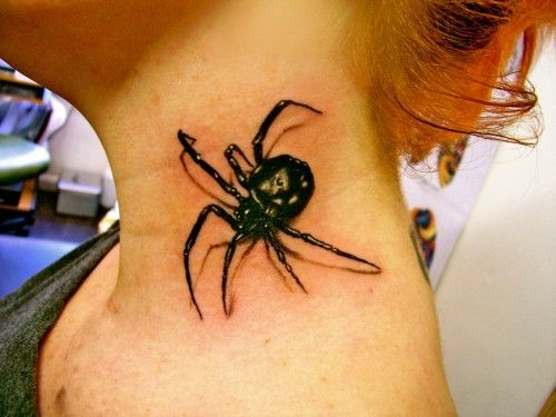 15 Extremely Beautiful 3d Tattoo Designs Neck Tattoo Spider