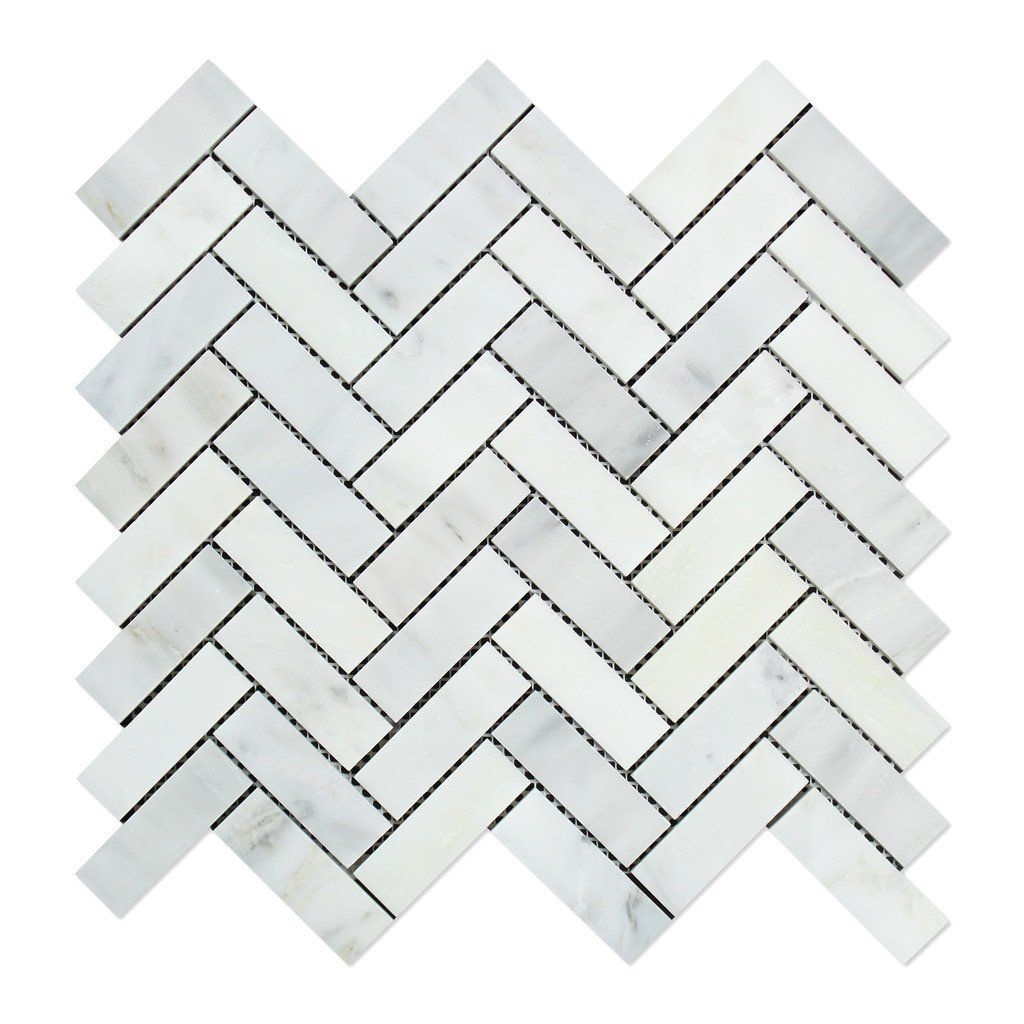 Oriental white asian statuary marble polished 1 x 3 herringbone oriental white asian statuary marble polished 1 x 3 herringbone mosaic tile dailygadgetfo Choice Image