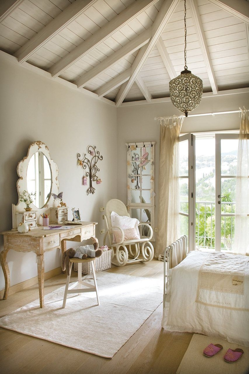 Window bedroom design  romantic bedroom  i love the window doors u the vaulted ceiling the
