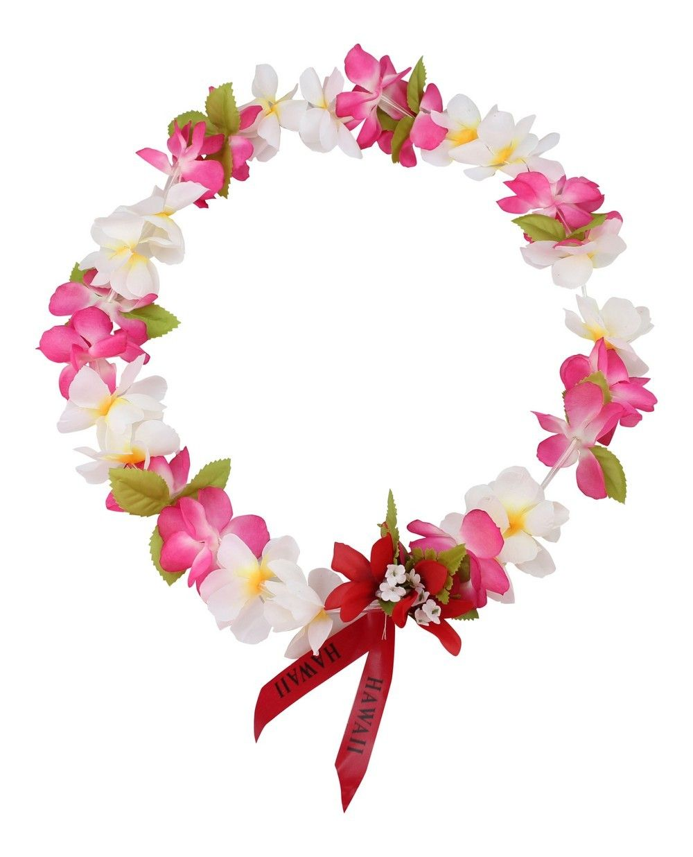 0bcaeb6974f0 Hawaii Luau Party Princess Collection Artificial Silk Fabric Lei White and  Pink