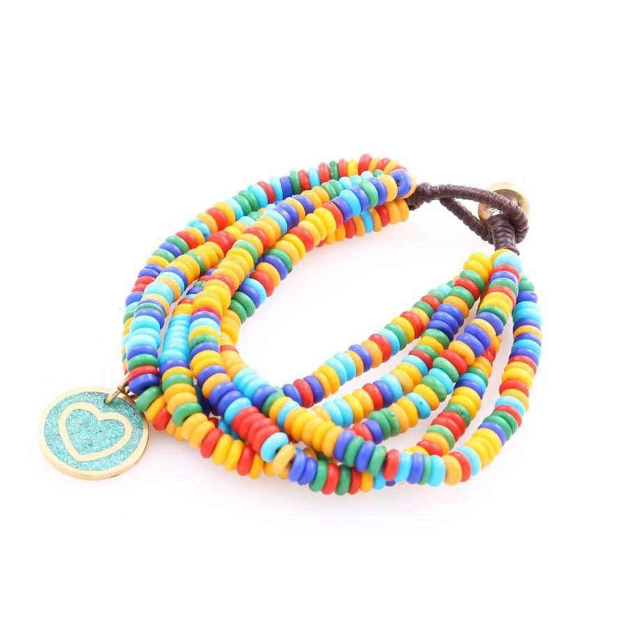 Beaded rainbow bracelet friendship pinterest jewelry