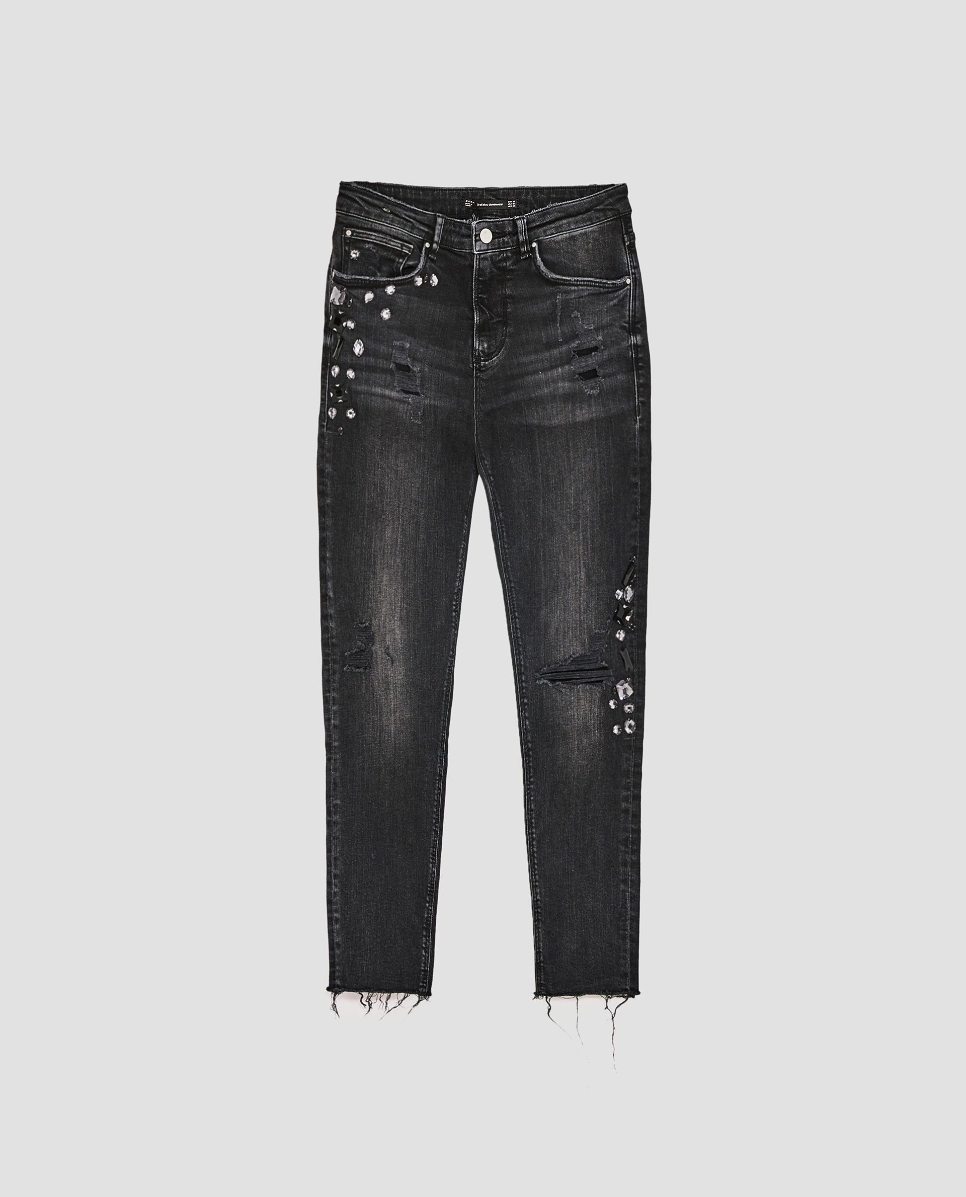 00663d97bc1c49 Image 8 of JEANS WITH STONES from Zara | EMB in 2019 | Jeans, Zara ...