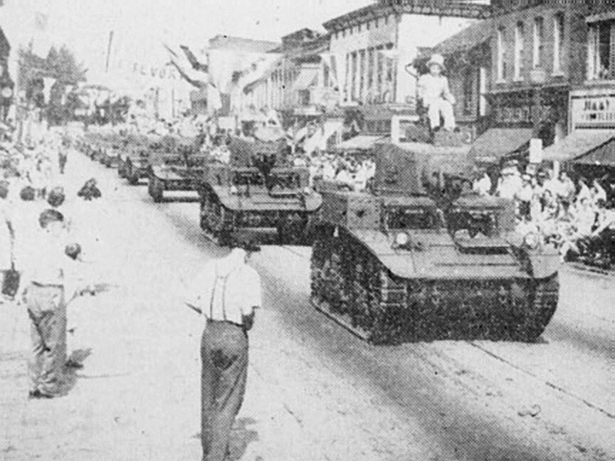 Parade For The First 1000 Tanks Of 13 750 Berwick Pa Front Mulberry Looking East 1941