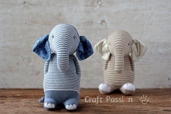 Socken-Elefanten | Selber machen | Pinterest | Nähen, Socken und Häkeln