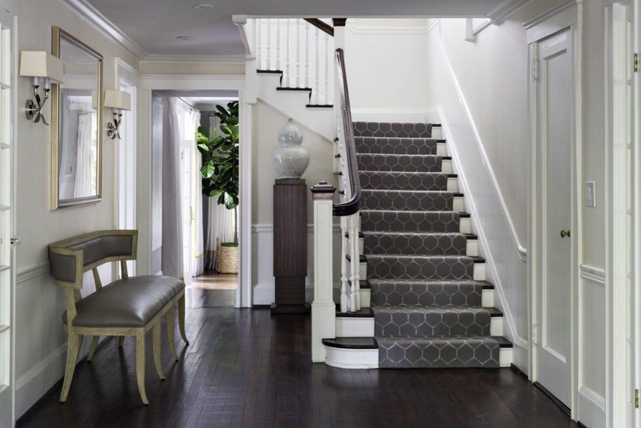 1930s hallway decorating ideas Avon Road Residence by BHDM  Updating a s Colonial House to a