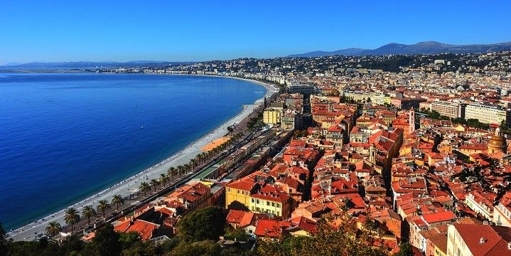 View from Colline du Chateau, Nice, French Riviera, France, Europe