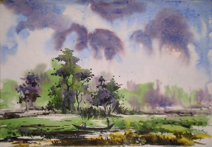 Landscape creative art in painting by charusohel rana in for Beautiful creative art