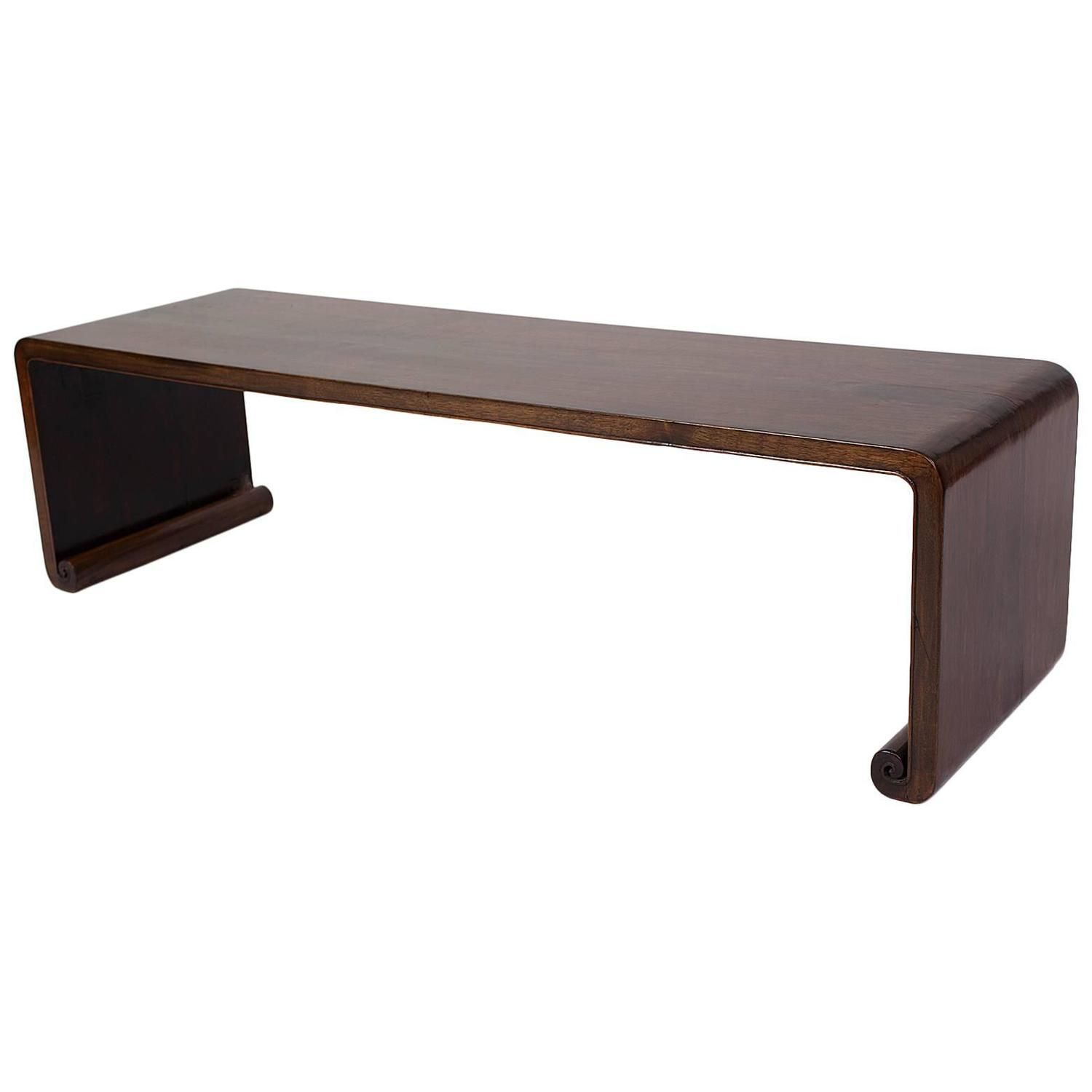 Elegant Simple Antique Chinese Qing Dynasty Walnut Bench Kang Side Table Qing Dynasty Art