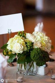 Emerald centerpieces-To get some emerald wedding inspiration, visit our blog at justbethebride.com!