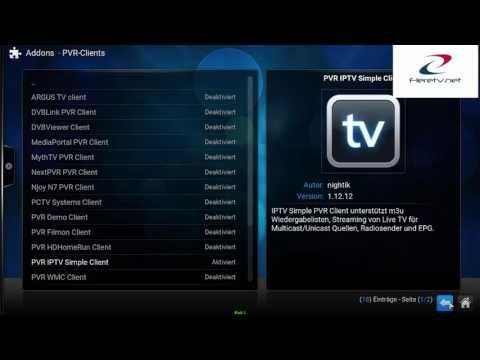 Free German Live Tv Kodi 2017 Pvr Iptv Simple Client M3u Url Youtube Deutsch
