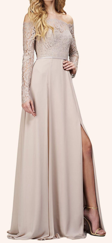 Off The Shoulder Long Sleeves Maxi Bridesmaid Dress Evening Formal Gown Dress Neutral Bridesmaid Dresses Theia Bridesmaid Dresses Long Sleeve Bridesmaid Dress [ 1500 x 691 Pixel ]