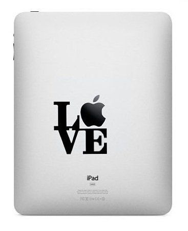 Love apple vinyl decal sticker to fit ipad ipad 2 amazon co