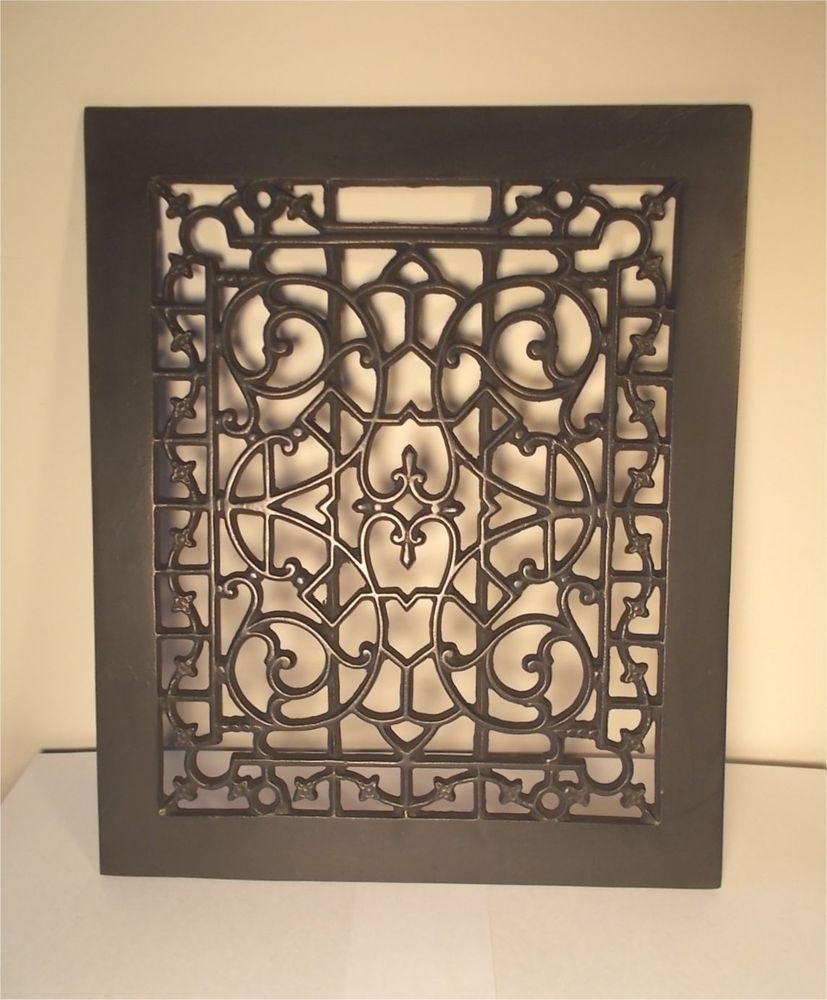 Antique Fancy Decorative Cast Iron Floor Heat Grate