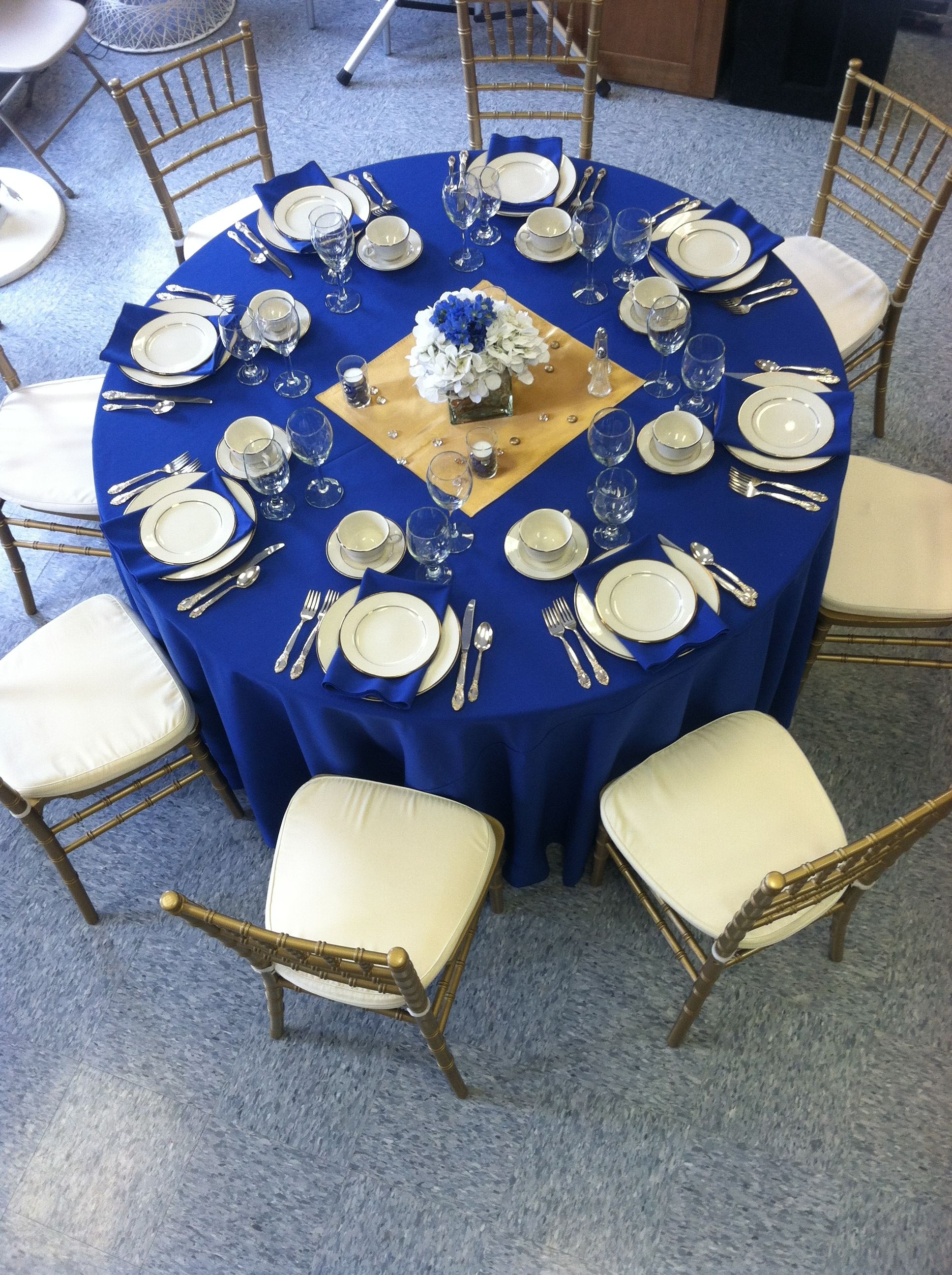 Blue And Gold Table Setting Rblue And Gold Table Setting Here We Added Some Gold Touches