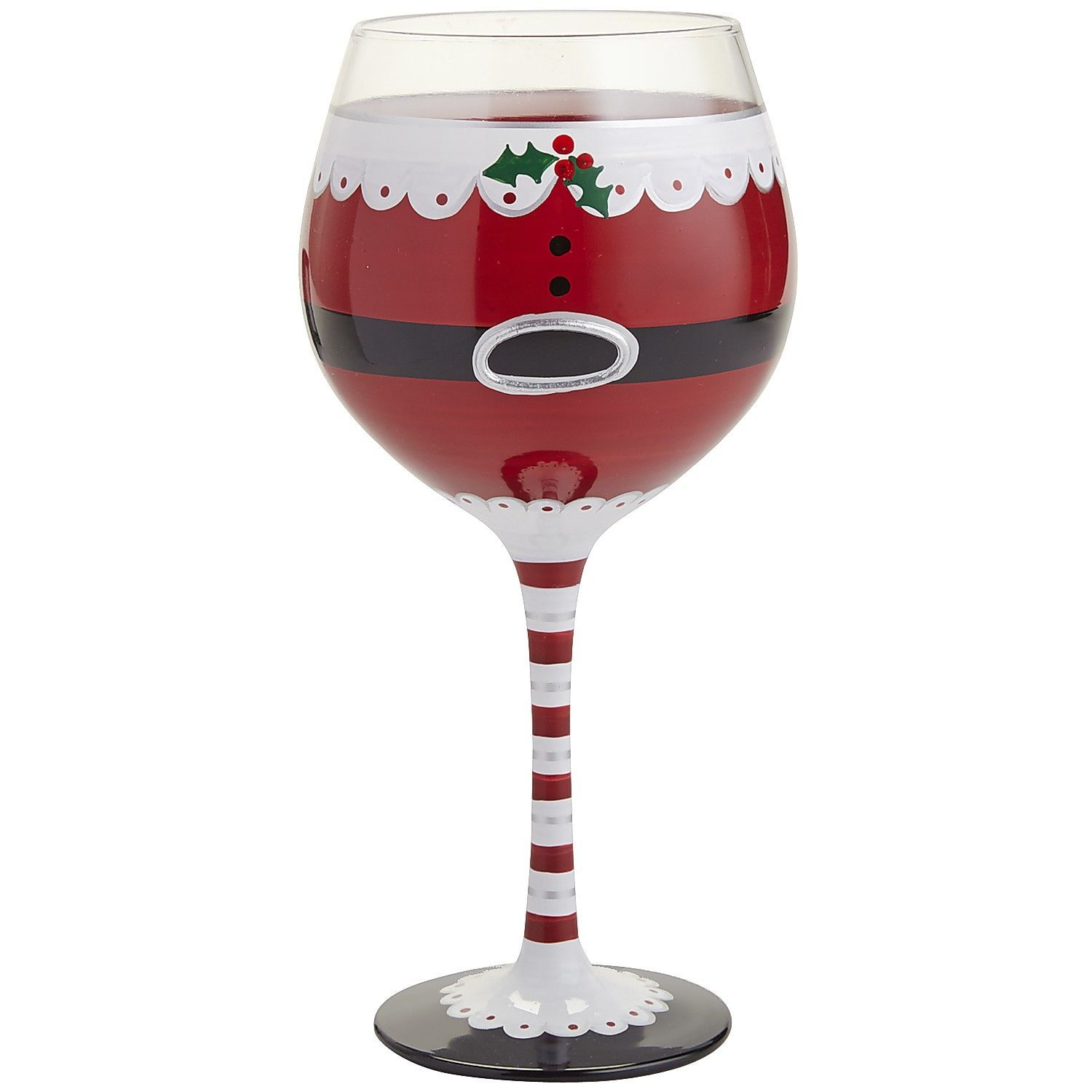 mrs claus painted wine glass pier 1 imports deco pinterest vin verre de vin et verre. Black Bedroom Furniture Sets. Home Design Ideas