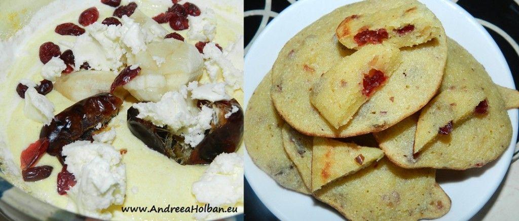 Biscuiti cu banane, curmale si merisoare (dupa 8 luni)