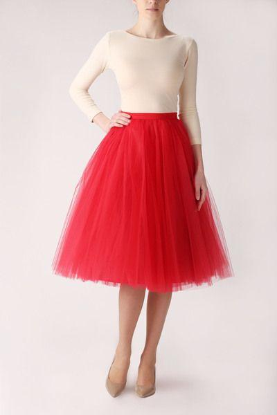ballerina rock aus t ll in rot auch in anderen farben erh ltlich mit seitlichen verdeckten. Black Bedroom Furniture Sets. Home Design Ideas