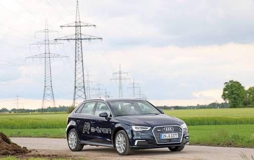 Audi A3 e-Tronin toimintamatka pelkällä sähköllä on 50 kilometriä.