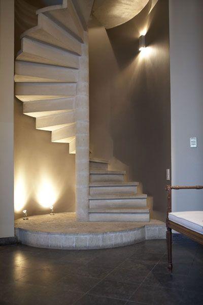 escalier en colimacon pierre