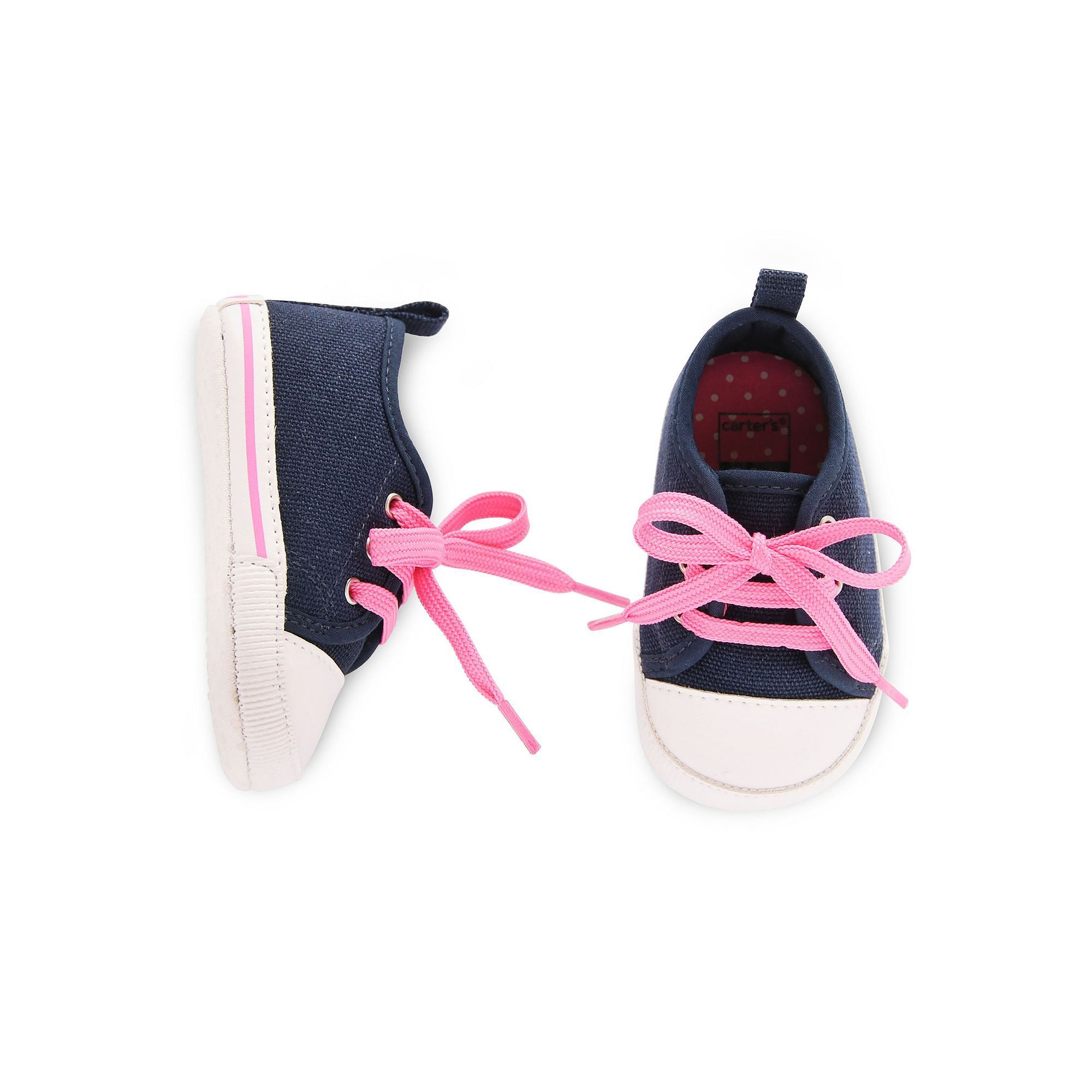 Baby Girl Carter s Slip Sneaker Crib Shoes Size 0 3 Months
