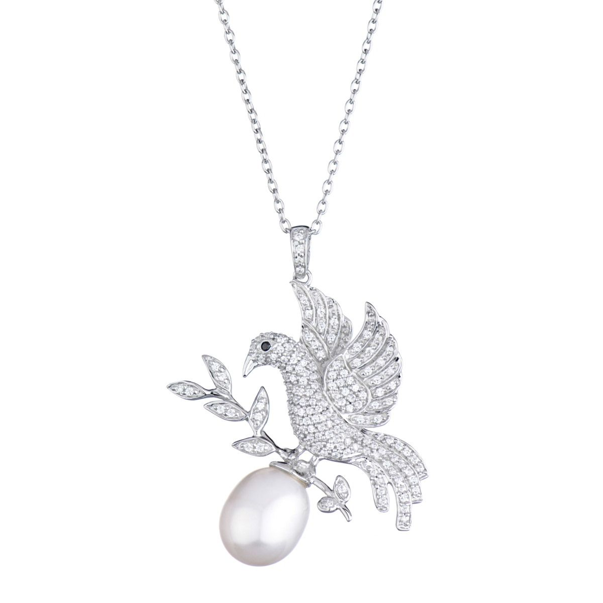 Kanita s bird and pearl pendant necklace 2g 12001200 other kanitas bird and baroque imitation pearl pendant necklace mozeypictures Image collections
