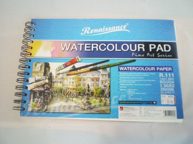Renaissance A4 200gsm Watercolour Pad Fabriano Paper 20 White