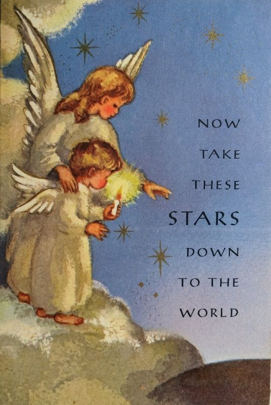 Angels Christmas Cards.1960s Christmas Card Angels Christmas Christmas Angels