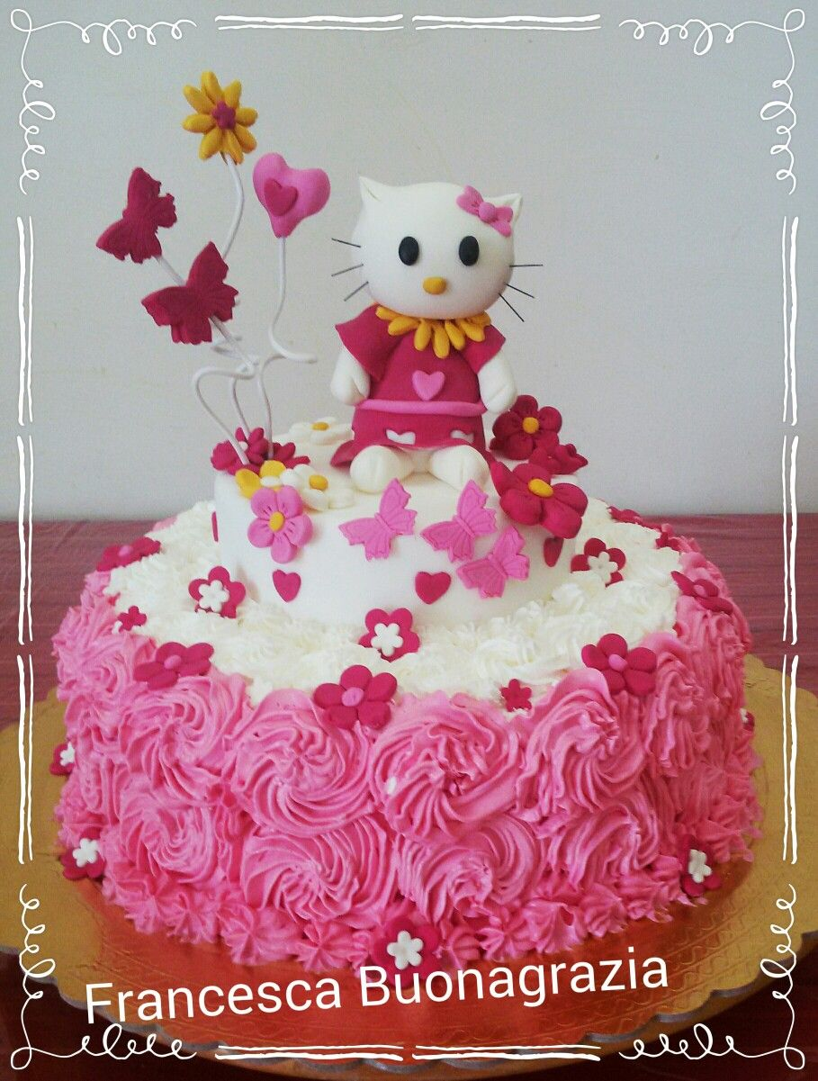 Torta hello kitty panna