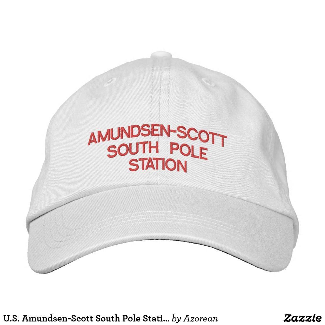 b6282f3b726ee U.S. Amundsen-Scott South Pole Station Hat. U.S. Amundsen-Scott South Pole  Station Hat Embroidered Baseball Caps