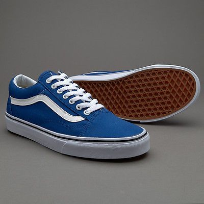 0ade1a3768 Vans Old Skool Canvas True Blue Men s Classic Skate Shoes Size 9.5 ...