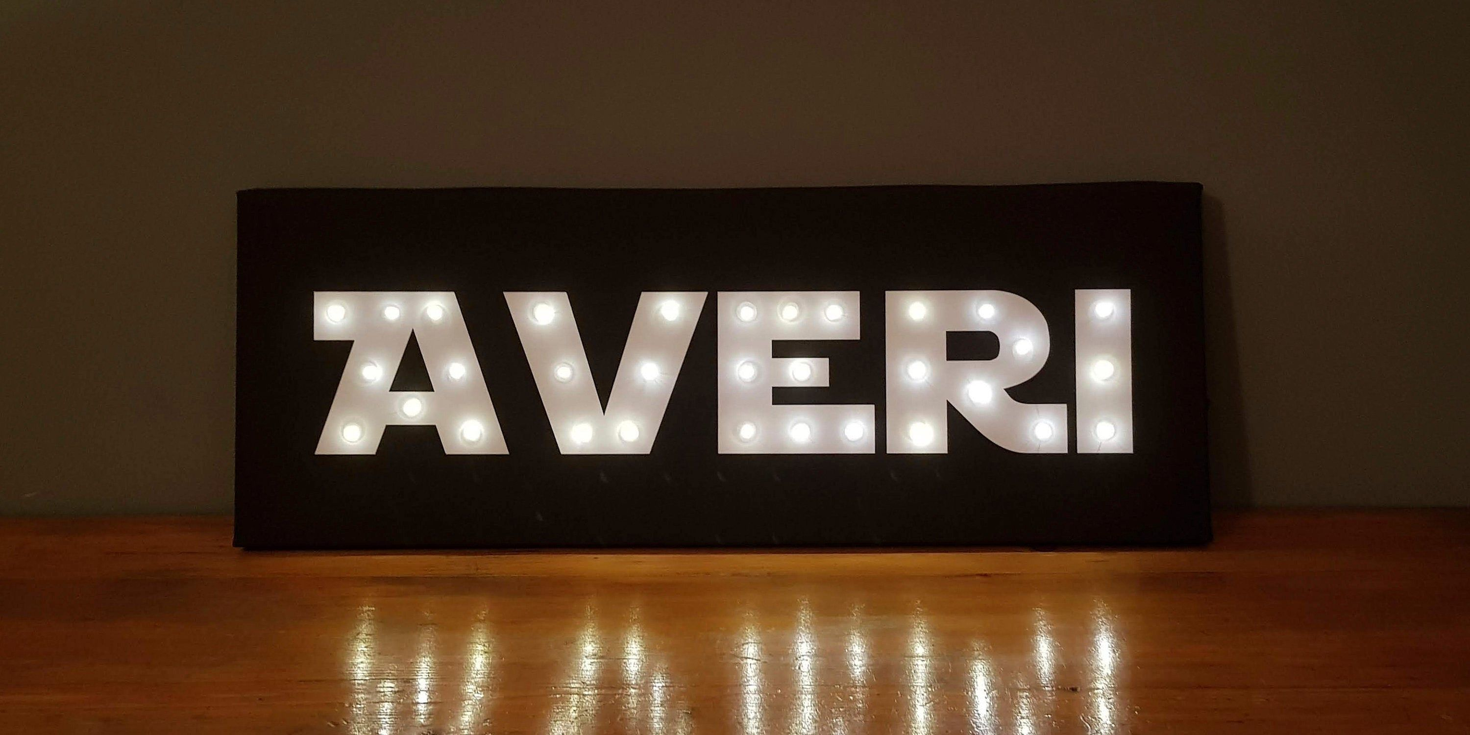 Your name in lights, Custom sign with name in lights