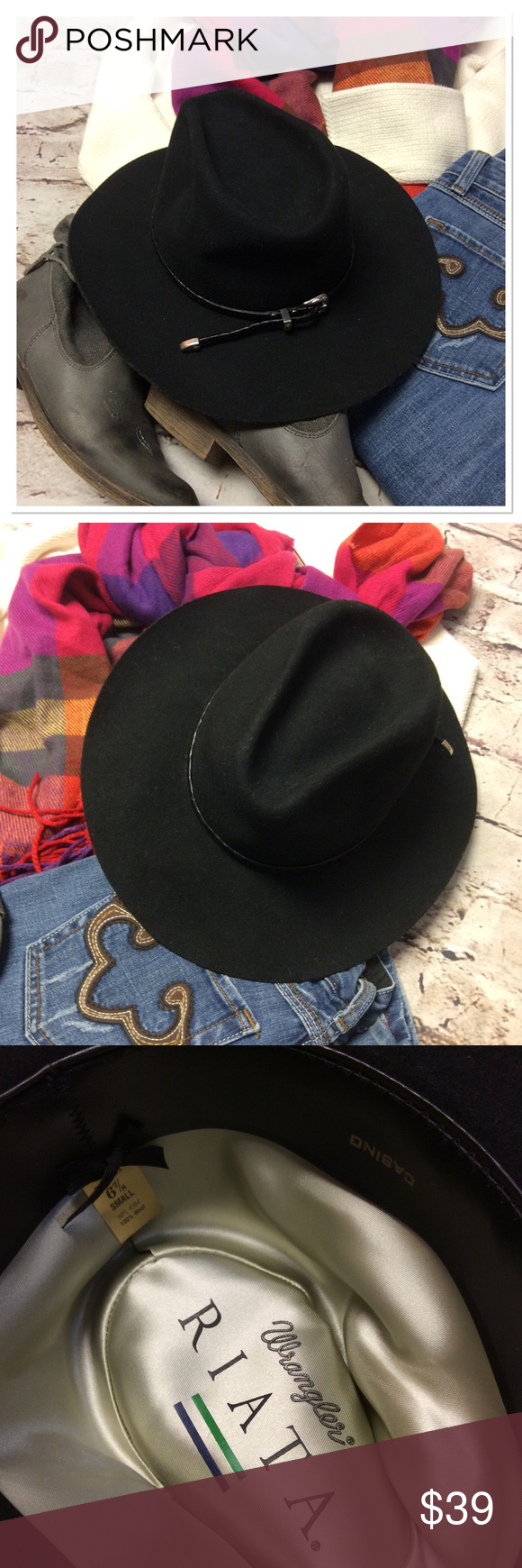71fa7b0bed5 WRANGLER RIATA CASINO WESTERN HAT This could be unisex. It s in like new  condition with braided trim. Perfect for the western lover.