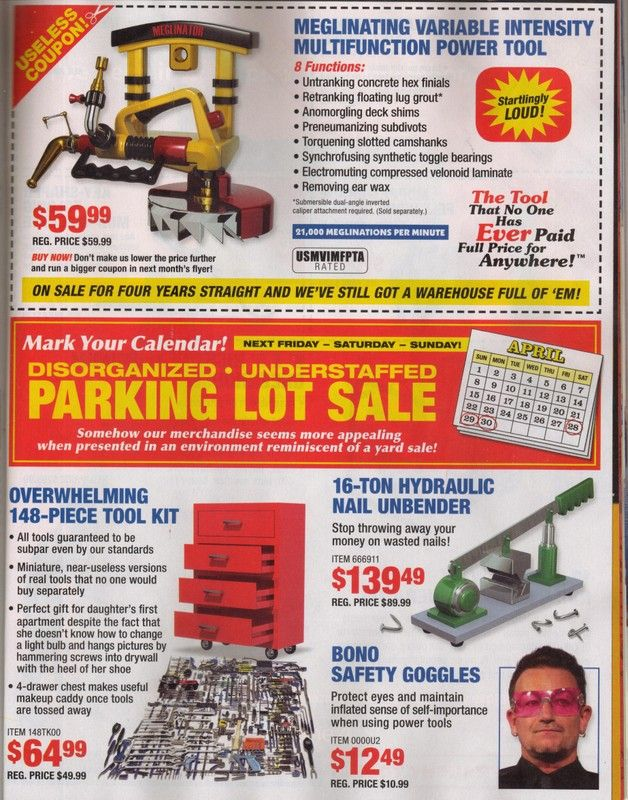 Harbor Freight Tools ad flyer parody  - Commercials I Hate